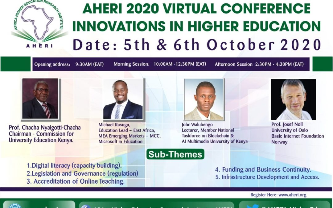 What to expect in the upcoming AHERI 2020 Conference